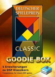 Deutscher Spielepreis Classic Goodie-Box 2019 - Puerto Rico, Just One, Imhotep