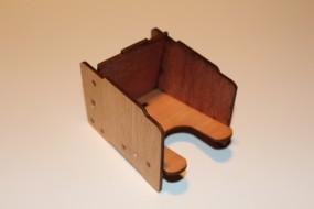 Kartenhalter aus Holz, groß, magnetisch