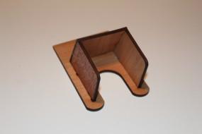 Kartenhalter aus Holz, klein