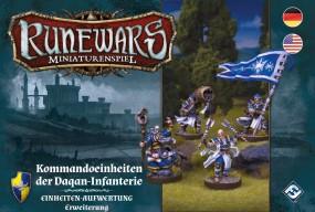 Runewars - Miniaturenspiel - Kommandoeinheiten der Daqan-Infantrie Einheiten-Aufwertung Erweiterung