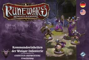 Runewars - Miniaturenspiel - Kommandoeinheiten der Waiqar-Infantrie Einheiten-Aufwertung Erweiterung