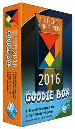 Deutscher Spielepreis Goodie-Box 2016 - Mombasa, Codenames, Isle of Skye, Time Stories